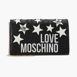 Túi Đeo Vai Moschino Star Clutch Shoulder Bag Màu Đen