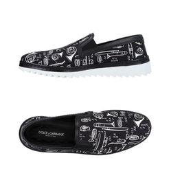 Giày Slip On Dolce & Gabbana Sneakers 11466563VC-Black Footwear Màu Đen
