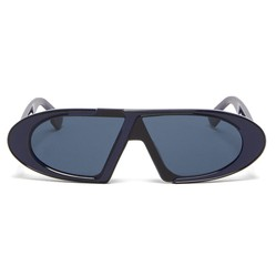 Kính Mát Dior Eyewear CD Oval Sunglasses Màu Xanh Navy