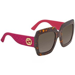 Kính Mát Gucci Gradient Brown Sunglasses GG0102S 003 54