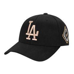 Mũ MLB La Dodgers Diamond Adjustable Cap Màu Đen Viền Vàng