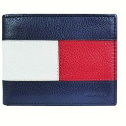 Ví Tommy Hilfiger Men's Billfold Wallet Phối Màu