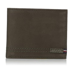 Ví Tommy Hilfiger Men's Leather Passcase Wallet Màu Xanh Olive