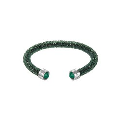 Vòng Đeo Tay Swarovski Crystaldust Cuff, Green, Stainless Steel