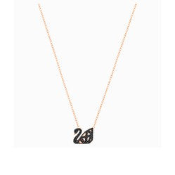 Dây Chuyền Swarovski Facet Swan Necklace, Black, Mixed Metal Finish