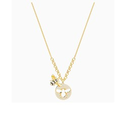 Dây Chuyền Swarovski Lisabel Necklace, White, Gold-Tone Plated