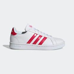 Giày Thể Thao Adidas Grand Court Màu Trắng Đỏ