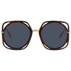 Kính Mát Dior Blue Mirror Sqaure Ladies Sunglasses