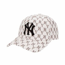 Mũ MLB High Monogram Adjustable Cap New York Yankees 32CPFDO11-50B Màu Trắng