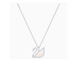 Dây Chuyền Swarovski Iconic Swan Pendant, White, Rhodium Plated