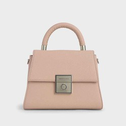 Túi Charles & Keith  Trapeze Top Handle Bag Màu Hồng