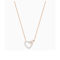 Dây Chuyền Swarovski Lovely Necklace, White, Rose-Gold Tone Plated