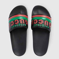 Dép Gucci Men's Original Gucci Slide Sandal Màu Đen