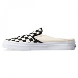 Giày Vans Mule Checkerboard Màu Đen Trắng