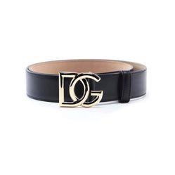 Thắt Lưng Dolce & Gabbana Black Belt In Calf Leather Bản 3,5cm Màu Đen