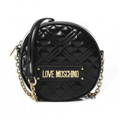 Túi Đeo Chéo Love Moschino Circular Contrast Panel Bag Màu Đen