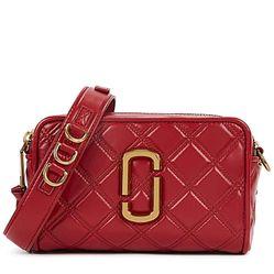 Túi Marc Jacobs The Softshot 21 Red Leather Cross-Body Bag Màu Đỏ