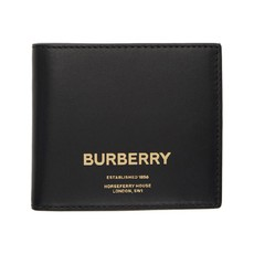 Ví Burberry Horseferry Print Leather International Bifold Wallet In Black Màu Đen