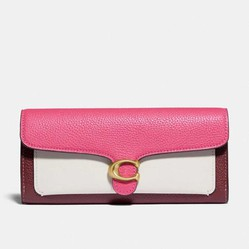 Ví Coach Tabby Long Wallet In Colorblock Màu Hồng
