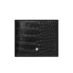 Ví Montblanc Alligator Printed Motif Wallet Vân Da Cá Sấu Màu Đen