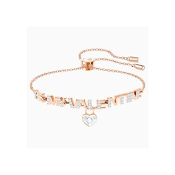 Vòng Đeo Tay Swarovski Melt Your Heart Bracelet, White, Rose-Gold Tone Plated