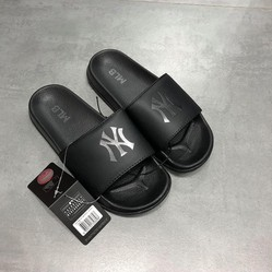 Dép MLB New York Yankee NY All Black Màu Đen Size 39