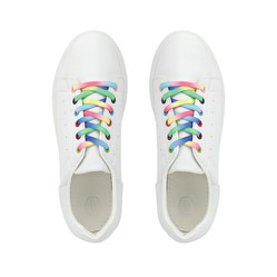 Giày Domba Highpoint2 Rainbow H-9120 Màu Trắng Size 36