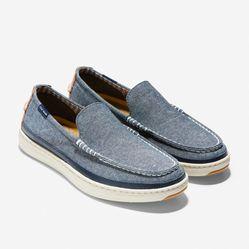 Giày Lười Cole Haan Cloudfeel Loafer Màu Xanh Xám