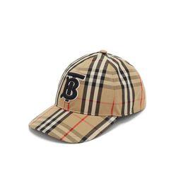 Mũ Burberry Beige Vintage Check Tb Baseball Cap Màu Nâu