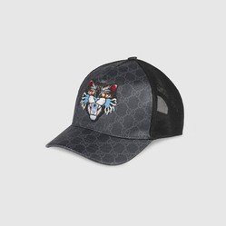 Mũ Gucci GG Supreme Baseball Hat With Angry Cat