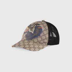 Mũ Gucci GG Supreme Wolf Baseball Hat Hình Sói