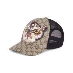 Mũ Gucci Owl Print GG Supreme Baseball Hat Hình Cú