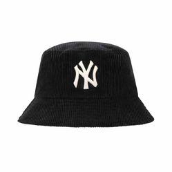 Mũ MLB Corduroy Bucket Hat New York Yankees 32CPHS011-50L Màu Đen