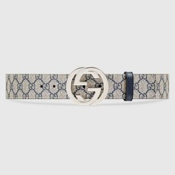 Thắt Lưng Gucci GG Supreme Belt With G Buckle