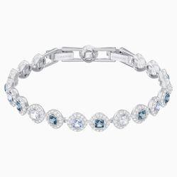 Vòng Đeo Tay Swarovski Angelic Square Bracelet, Blue, Rhodium Plated
