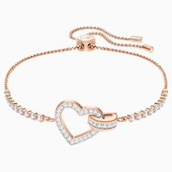 Vòng Đeo Tay Swarovski Lovely Bracelet, White, Rose-Gold Tone Plated