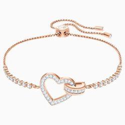 Vòng Đeo Tay Swarovski Lovely Bracelet, White, Rose-Gold Tone Plated
