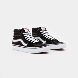 Giày Thể Thao Vans Classic Sk8-Hi Black/White Màu Đen