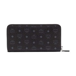 Ví MCM Large Zip Around Wallet in Visetos Original Black Màu Đen