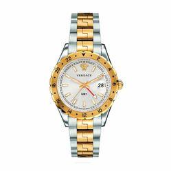 Đồng Hồ Nam Versace Hellenyium GMT Silver Dial Men's Watch V11030015 42mm