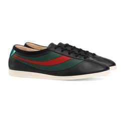 Giày Gucci Black Leather Falacer Sneakers Màu Đen