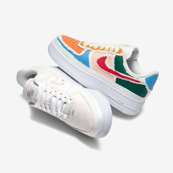 Giày Thể Thao Nike Air Force 1 LX Tear Away White - Orange CJ1650-101 Size 38