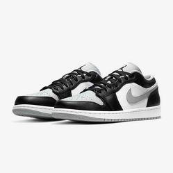 Giày Thể Thao Nike Jordan 1 Low Smoke Grey Màu Đen Trắng Size 39