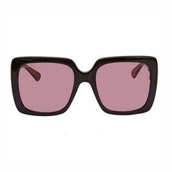 Kính Mát Gucci Pink Square Ladies Sunglasses GG0418S 002 54 Màu Hồng