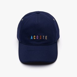 Mũ Lacoste Multicolored Logo Cotton Màu Xanh Navy