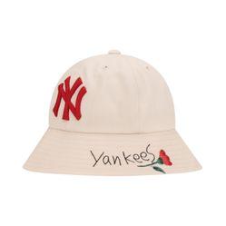 Mũ MLB Bucket Yankees Beige 32CPHF-911 Màu Be