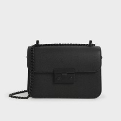 Túi Charles & Keith Classic Push-Lock Crossbody Bag CK2-80701088-4 Màu Đen