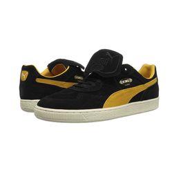 Giày Puma King Suede Black Yellow 366290-02 Màu Đen