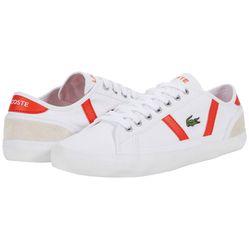 Giày Thể Thao Lacoste Sideline 120 Màu Trắng Viền Đỏ Size 39.5