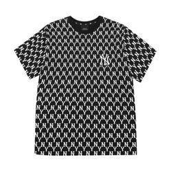 Áo Phông MLB Monogram Allover Overfit Short Sleeve T-Shirt New York Yankees Black Màu Đen Size S